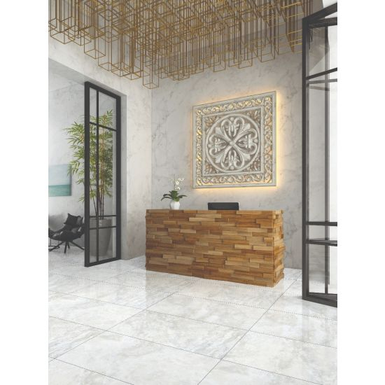 Hotel Reception Wall and Floor Tiles