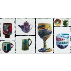 OTF Brass Pottery Aqua