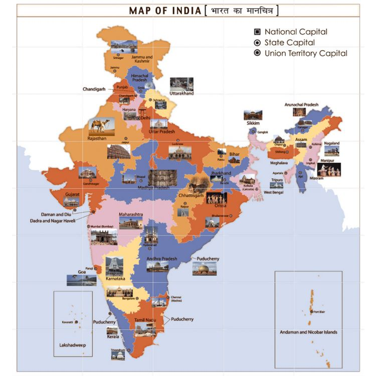 SC-New Map Of India