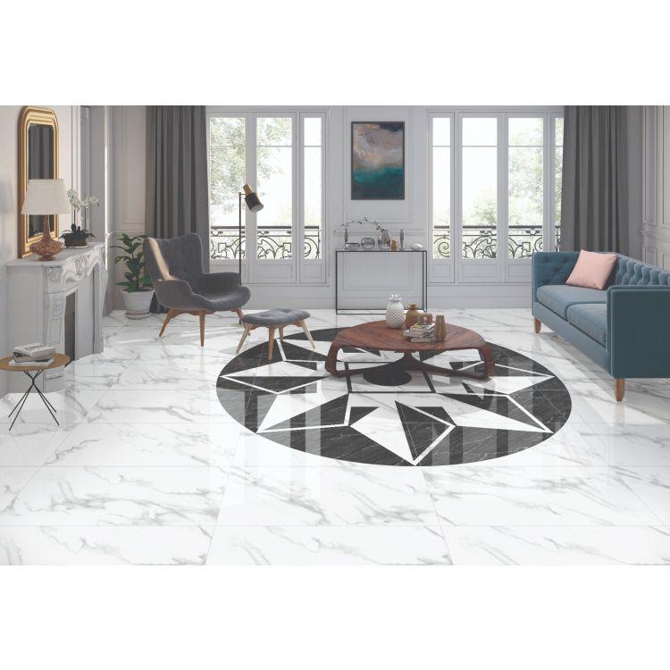 Pgvt Statuario Marble Floor Tiles