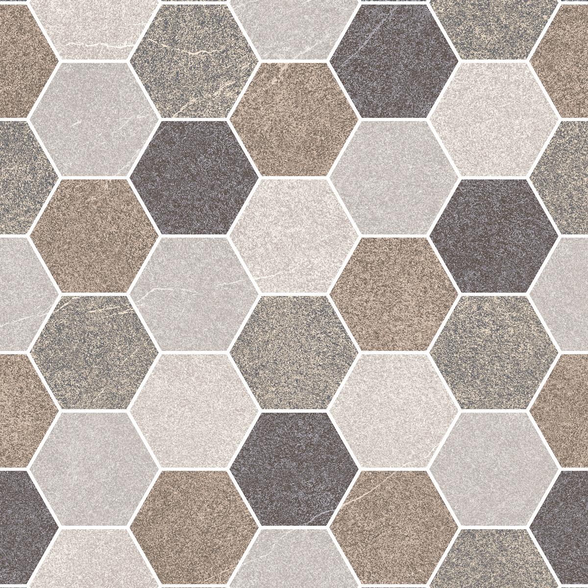 HRP Stone Hexagon Brown Multi
