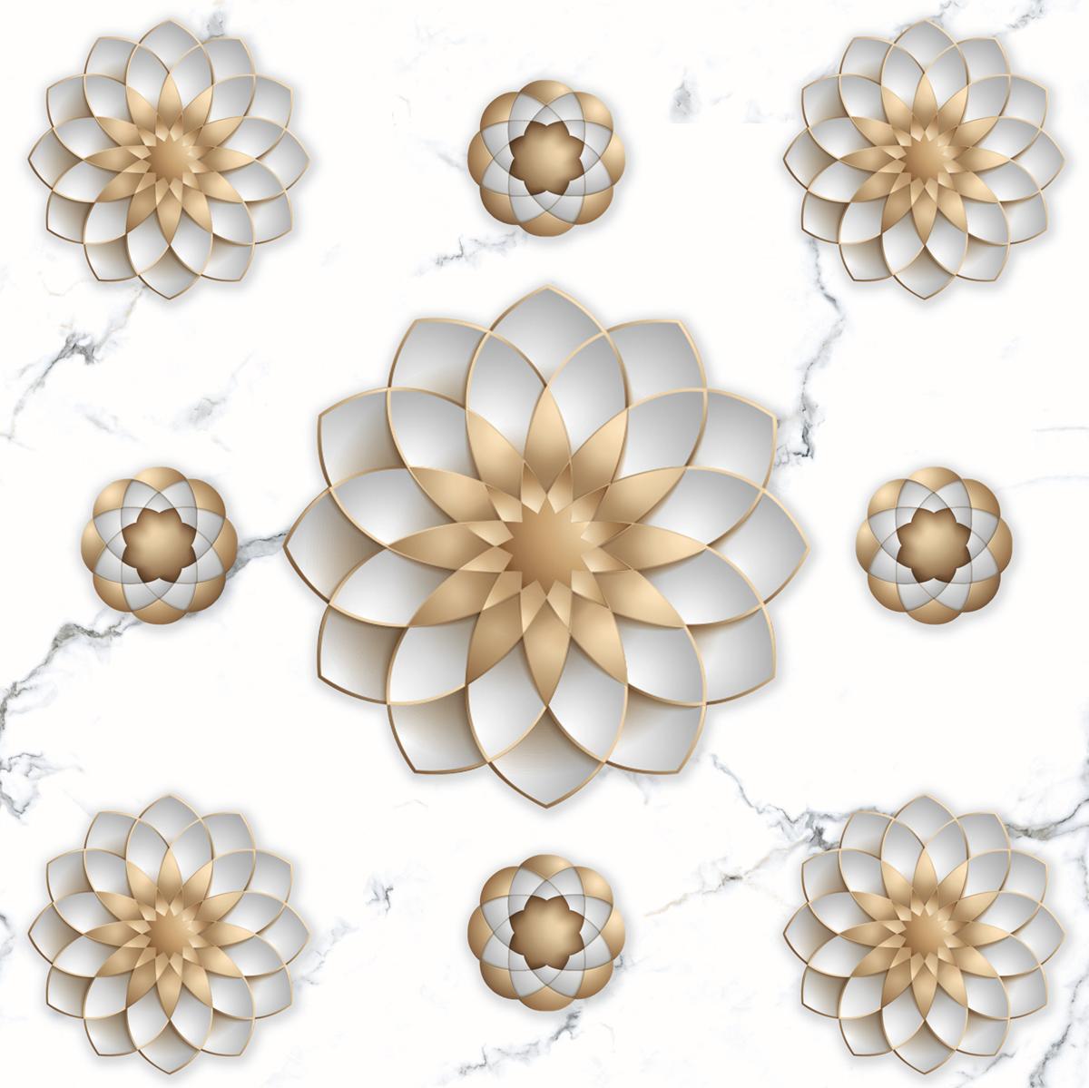 PCG 3D Flower Statuario Super White