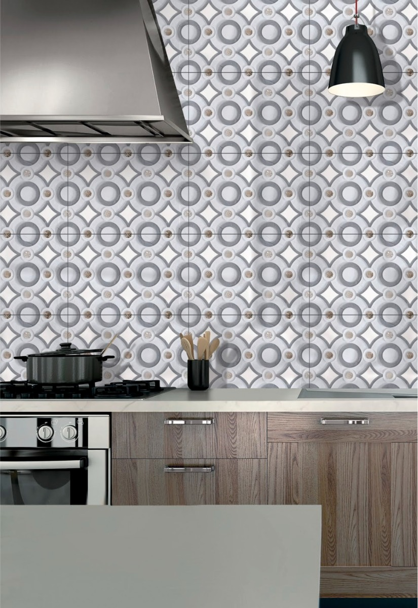 Kitchen Ambiance Ceramic Sparkle Wall Tiles