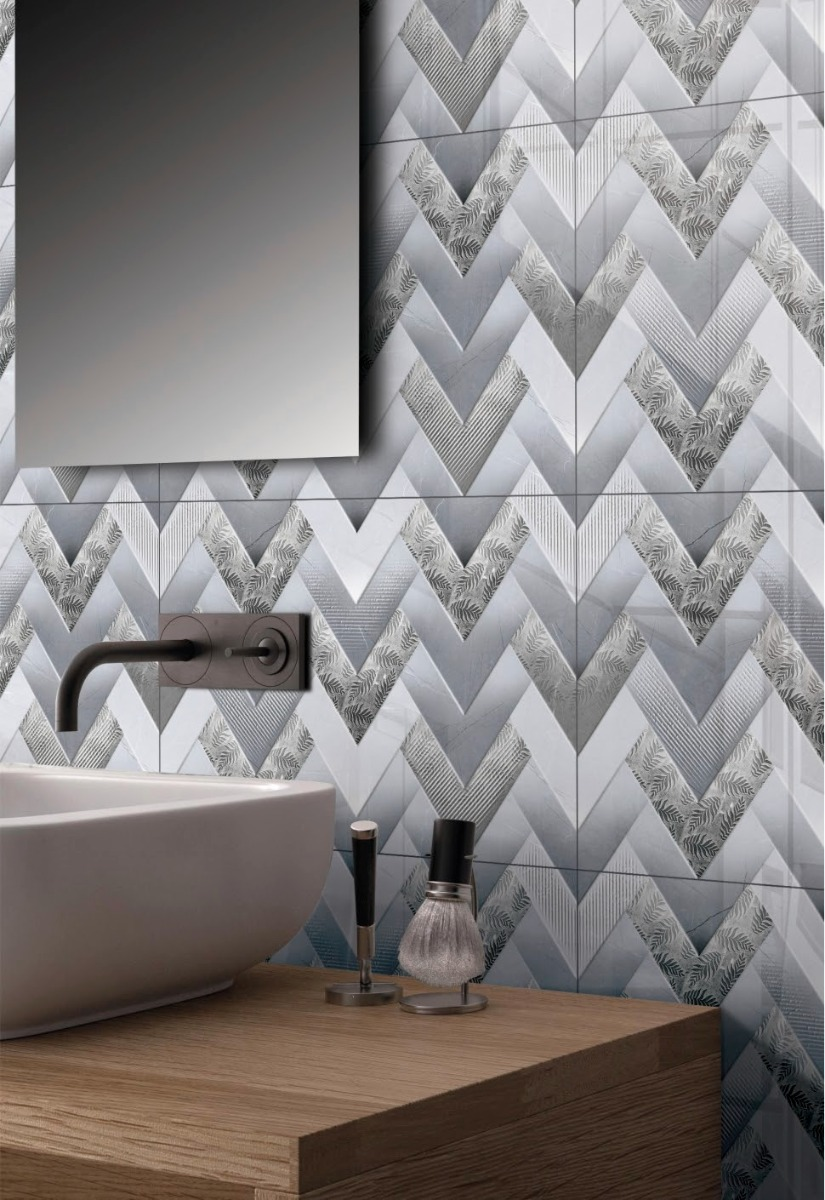 Bathroom Ambiance Ceramic Sparkle Wall Tiles