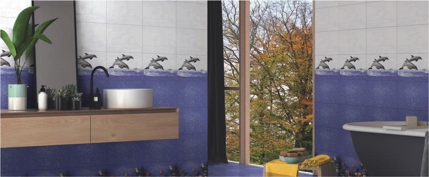 Bathroom Dolphin Wall Tiles
